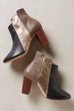 Metallic Colorblock Booties #anthropologie