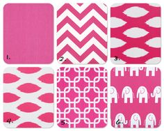 Hot Pink Mix and Match pillow covers. $32.00, via Etsy.