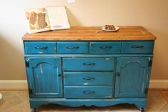 Awesome upcycle - Dresser to kitchen island / buffet.