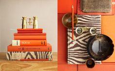 Orange & Zebra Print
