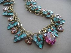 Fairy Necklace  Fairytale Jewelry  Pansy by SilverTrumpetJewelry, $139.00