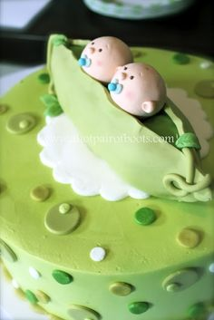 Cake for Twin Boys. (Made by Cakes by Darcy in Roswell, Georgia.) twin-baby-shower-ideas