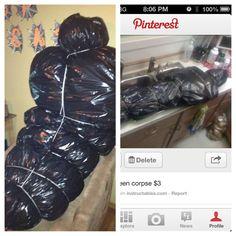 DIY Body Bag ... Idea found on Pinterest. Original pin on my Halloween Board