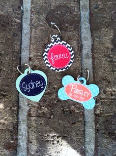 Personalized Dog or Cat ID Tag  Monogram by CherryTreeLaneDesign