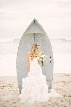 Antique Light Blue Beach  Boat Wedding
