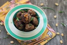 Low Carb Gluten-Free Kung Pao Meatballs