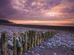 Bossington Beach Exmoor National Park, Somerset, England  . #seashore #beach #ocean #sea #coast #sand #shell