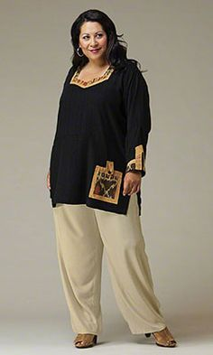 Plus Size Tops - TIKA TUNIC - Plus and Super Plus Size Clothes for Women