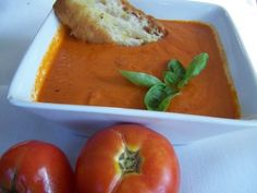 Best creamy tomato basil soup I've found-just add a lil sugar/splenda to recipe!