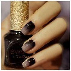 smokey nail trends, nail polish, nail designs, nail colors, manicur, nail arts, black nails, gradient nails, nail ideas