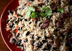 Costa Rican Rice and Beans. My son's favorite food.