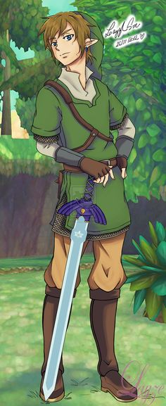 Link | Skyward Sword by Michelle S. Fausto