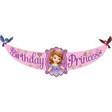 "Sofia the First Party ""Birthday Princess"" Banner. One Sofia the First Party ""Birthday Princess"" Banner is 5 feet long! Made of plastic, it is great for indoor or outdoor decorating. Find at http://www.ezpartyzone.com/pd-sofia-the-first-party-birthday-princess-banner.cfm"