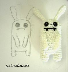 Bunnicula the Vampire Bunny - Free Amigurumi Crochet Pattern