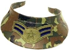 Duct Tape Camo Visor Craft. Wear these along your hike! From MakingFriends.com
