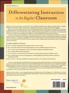 how do you differentiate instruction in the classroom