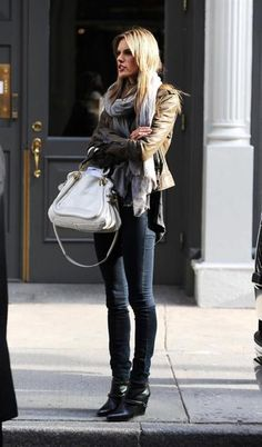 boots, chloe bag, scarf, yes, yes, yes.  If I could only fit in those jeans.