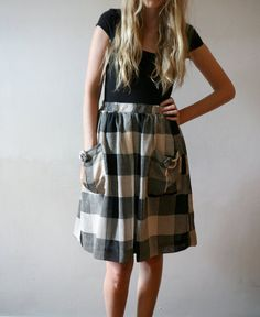 sewing inspiration...big gingham and slouchy pockets.