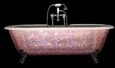 PINK glitter retro bathtub.....everybody needs one of these in their home!...