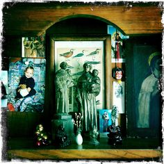 my home shrine by daniele carrer, via Flickr  #shrines #religious