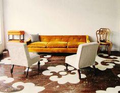 Dramatic (and DIY) floor stencils.