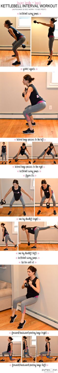 Lower-Body  Back Kettlebell Interval Workout