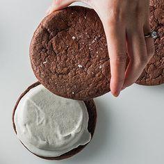 ice cream sandwiches, chocolate cookies, sandwich cookies, cookie recipes, treat