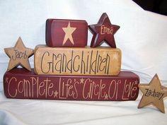 Grandchildren Personalized Block Set #691 $24.95