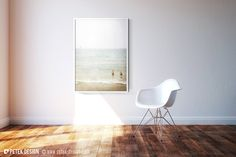 Large 20x30'' Photo / Foggy Summer Beach Day / by petekdesign, $70.00