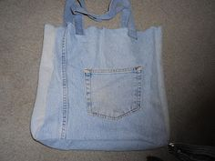 Repurpose an old pair of jeans into a grocery bag ... lots of other styles to choose from as well