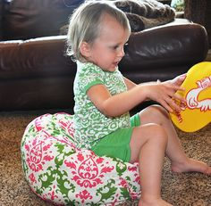 DIY floor cushion for toddlers