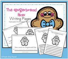 Gingerbread Man Writing Pages - Pinned by @PediaStaff – Please visit http://ht.ly/63sNt for all (hundreds of) our pediatric therapy pins