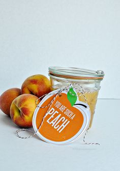 'You are such a peach' printable gift tags, perfect for body scrub