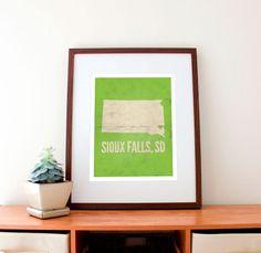Sioux Falls, South Dakota Love Print