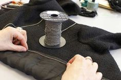 Making of the Chanel Little Black Jacket: The chain game. © Chanel