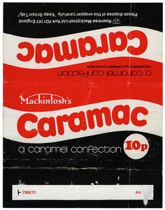 UK - Mackintosh's - Caramac - 10p chocolate candy bar wrapper - 1970's by JasonLiebig, via Flickr