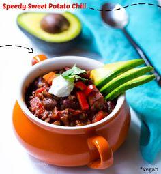 One-Bowl Wonder, Comfort Meal: Speedy Sweet Potato Chili.