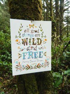 Wild and Free - Large Format. $24.00, via Etsy.