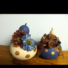 Painted gourds