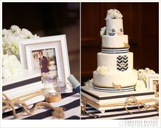 Nautical themed cake, frozen bananas at midnight and so many more details at this BBR wedding!