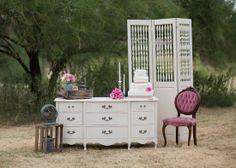 Vintage reception furniture from Prim Unique Rentals