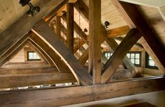 architects, exposed beams, stone cottages, mountain cottag, rocky mountains, hous idea, rustic art, timber frame, wood beams
