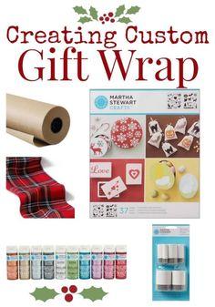 DIY GIFT WRAP - Create Custom Gift Wrap - TodaysCreativeBlog.net