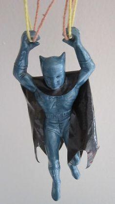 Vintage 1966 Batman Parachuter Toy RARE Complete Dark Knight Collectible | eBay