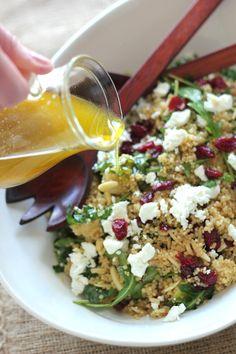 Recipe File: Toaste Quinoa And Pear Sald