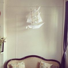 Sailing Ship Kite - I like the idea of just using it for decoration…hang it from the ceiling - RLAM