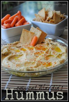 OMG - my all-time favorite hummus- Copykat recipe of Aladdin's!