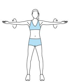 Arm Circles! This is another great exercise for slimming your arms, and it's super easy. Hold your arms straight out to either side of you – and make circles! Be a windmill! As a kid in gym class, you probably thought this was the dumbest exercise ever, but it's really helpful.