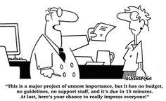 It's funny 'cause it could happen to any project manager.