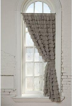 Ruffles decor, urban outfitters, windows, window treatments, ruffl curtain, little girl rooms, shower curtains, bedroom, ruffles